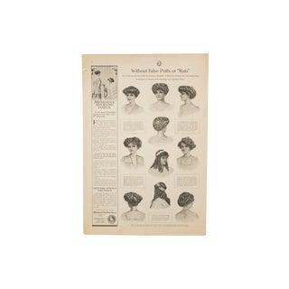 1913 American Fashion Magazine Cut-Out