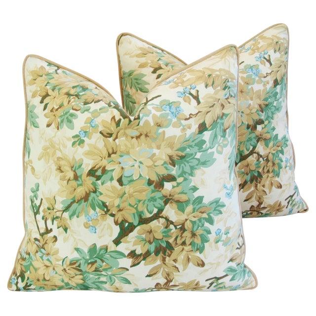 Designer Brunschwig & Fils Foliage Pillows - Pair - Image 1 of 11