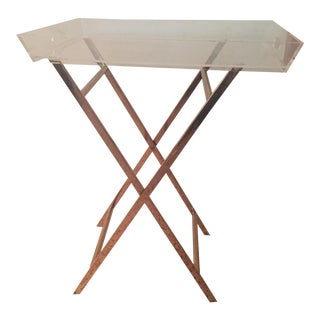 Lucite & Copper Tray Table