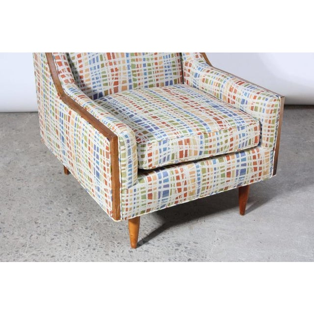 Image of Mid-Century American Modern Lounge Chair with Walnut Border
