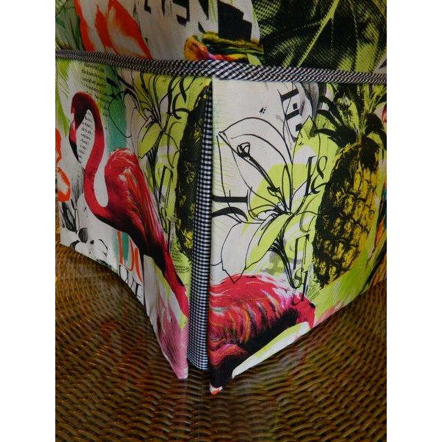 Palm Beach Regency Custom Upholstered Ottoman - Image 7 of 7
