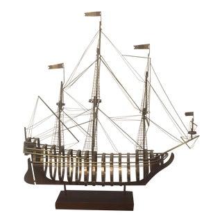1980 Curtis Jere Mid-Century Modern Ship Sculpture