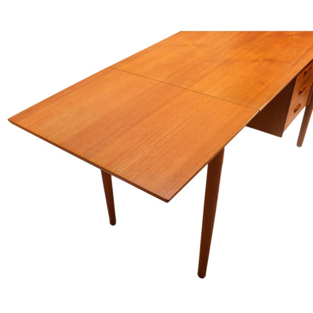 Image of Arne Vodder Mid-Century Danish Teak Drop Leaf Desk