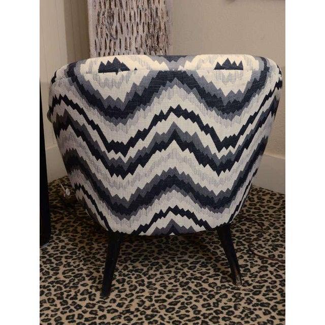 Gray Chevron Napoleon-Style Chair - Image 8 of 8