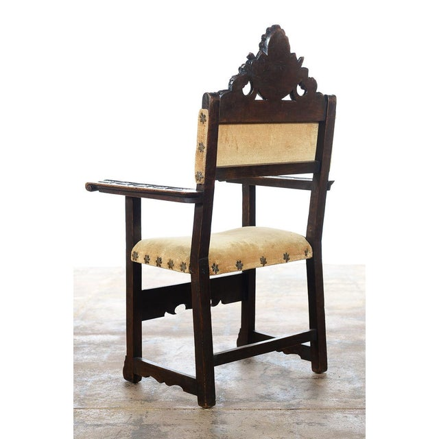 Spanish Renaissance -Carved Side Chairs -A Pair - Image 6 of 10