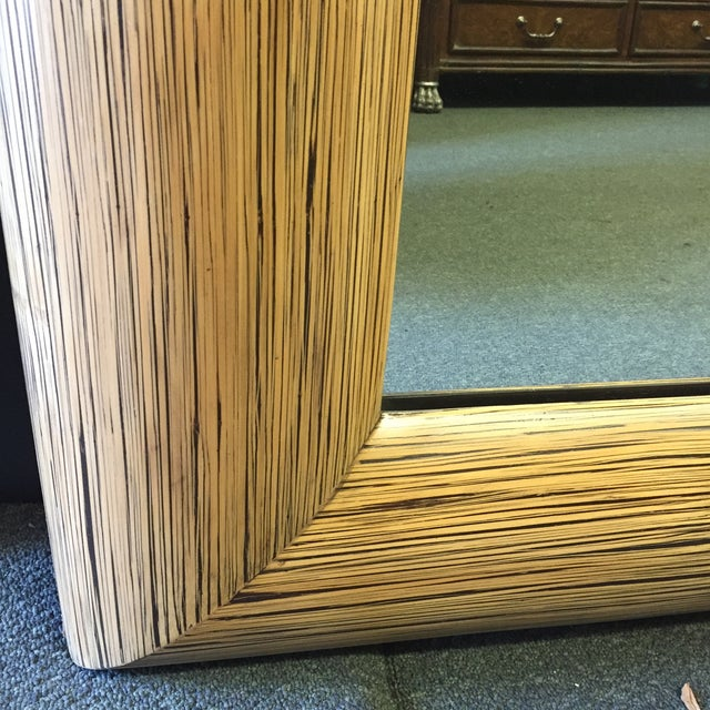 New Crushed Bamboo Floor Mirror - Image 7 of 8