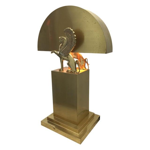 Rare Custom Lamp in the Manner of Karl Springer - Image 1 of 9