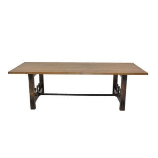 Sarreid Ltd Wood Screw Trestle Based Dining Table