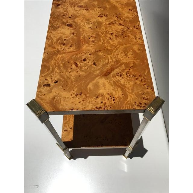 Burlwood Console Table Attributed to Romeo Rega - Image 7 of 11