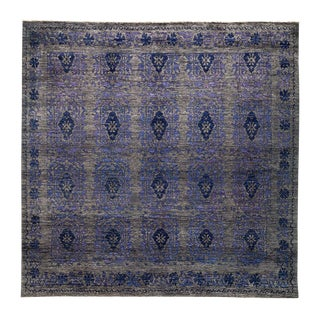 "Eclectic, Hand Knotted Square Rug - 8' 1"" x 8' 1"""