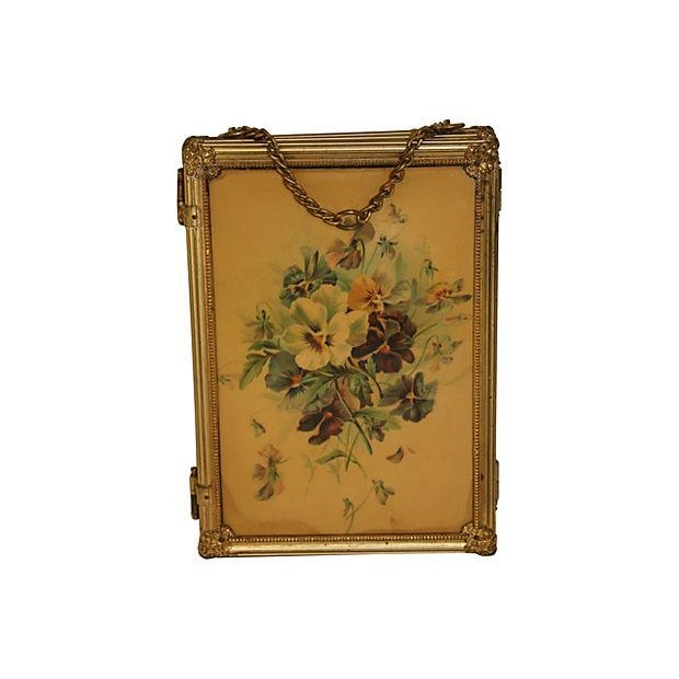 19th C. Celluloid Trifold Beveled Mirror - Image 2 of 6