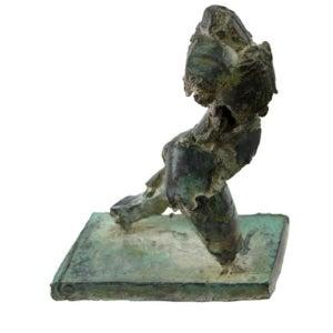 Bronze Brutalist Figure by Henry Neuman
