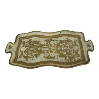 Vintage Gold Florentine Tray with Handles