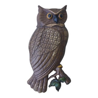 Mid-Century Syroco Owl Wall Hanging