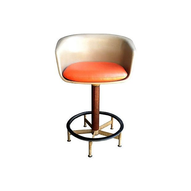 Saarinen Style Swivel Bar Stool By Burke - Image 6 of 6