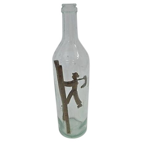 Image of Antique Hand-Carved French Bottle Art