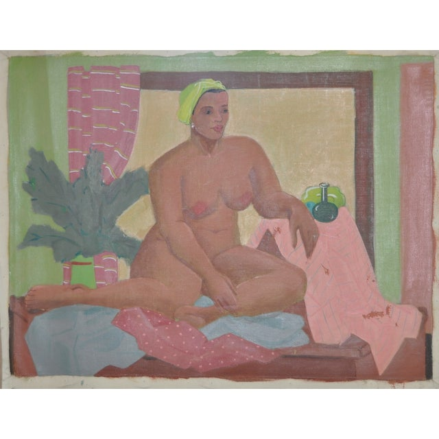 Vintage Figurative Nude Oil Painting C.1940's - Image 2 of 6
