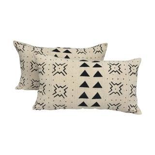 Mali Tribal Mud Cloth Pillows - A Pair