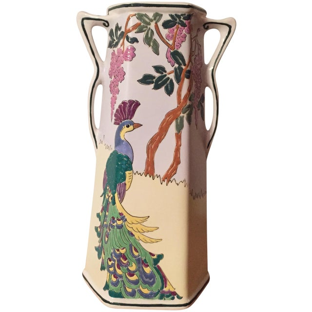 Royal Nippon Nishiki Peacock Vase Chairish