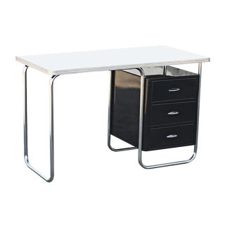 Vintage Mid Century Modern 1930s Royal Chrome Texaco Desk