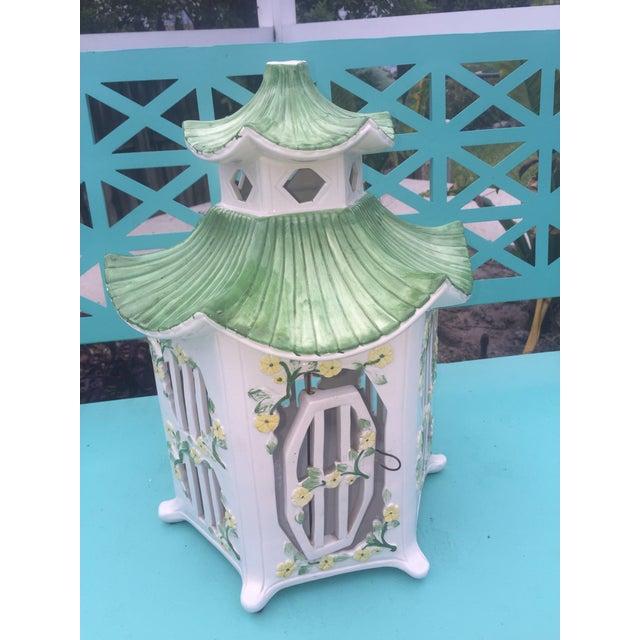 Italian Ceramic Pagoda Birdhouse - Image 6 of 8