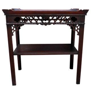1930s Chinoiserie Mahogany Side Table