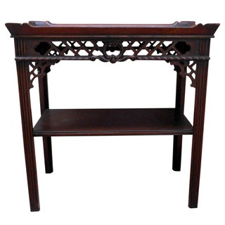 1930s Chinoiserie Mahogany Side Table