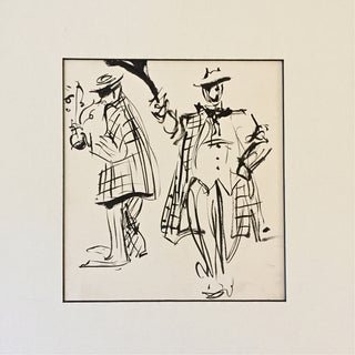 French Jazz Age Pen and Ink Drawing