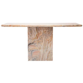 Variegated Marble Console Table