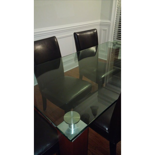 Image of Modern Glass Dining Table From Bova
