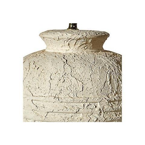 1970s White Textured Barrel Lamps - A Pair - Image 6 of 7