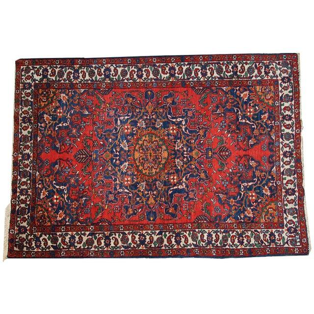 1970s Hand Made Vintage Persian Mashad Rug - 4′7″ × 6′4″ - Image 9 of 10