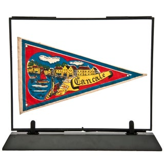 Framed Vintage French Cancale Pennant