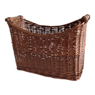 Rustic Wicker Wood Basket