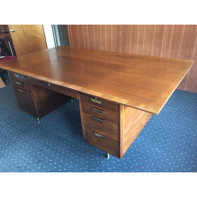 Mid Century Executive Desk by the Standard Furniture Co. - Image 10 of 10