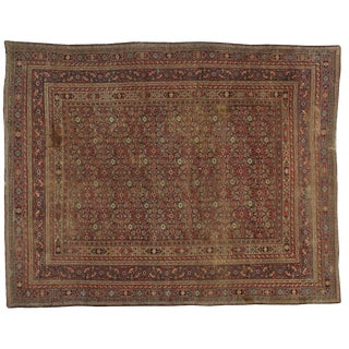 "Antique Persian Khorassan Distressed Rug - 8'6"" X 10'11"""