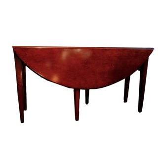 Cherry Wood Oval Gate Leg Dining Table