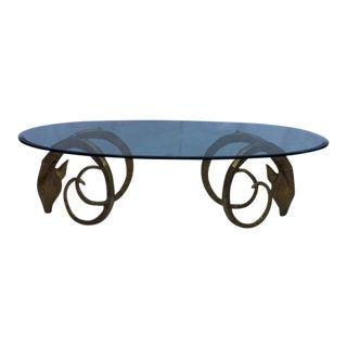 Vintage Ibex Rams Head Coffee Table