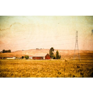 Vintage Style Napa Red Barn Photograph