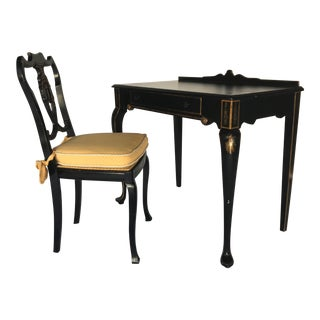 French Chinoiserie Style Writing Desk and Chair Set