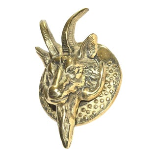 Billy Goat Brass Door Knocker