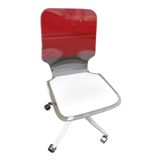 Vintage Mid-Century Lucite Swivel Office Chair