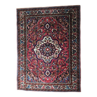 "Antique Baktiari Handmade Wool Rug- 42""x 56"""
