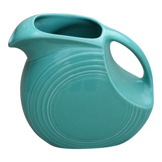 Turquoise Blue Fiesta Pitcher