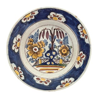 Antique Delft Polychrome Plate