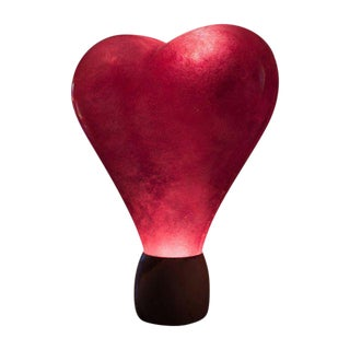 Illuminated Love Glow Heart Statue