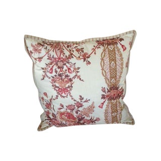 Vintage English Cotton Chinz Pillow