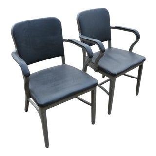 Remington Rand Tanker Arm Chairs - A Pair
