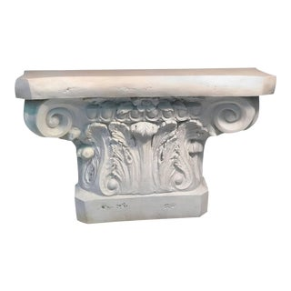 Modern Neoclassical White Column Form Console Table