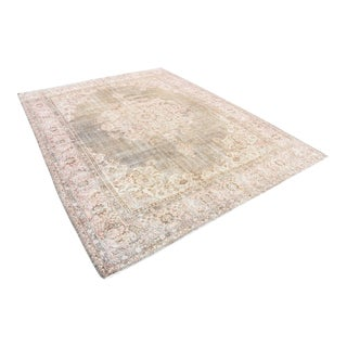 Antique Turkish Tribal Hand-Knotted Wool Rug-7′11″ × 10′6″